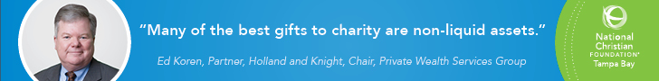 Many of the best gifts to charity are non-liquid assets - Ed Koren